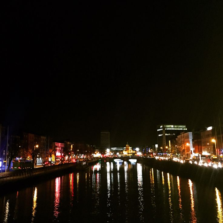 Dublin by night on Liffey!