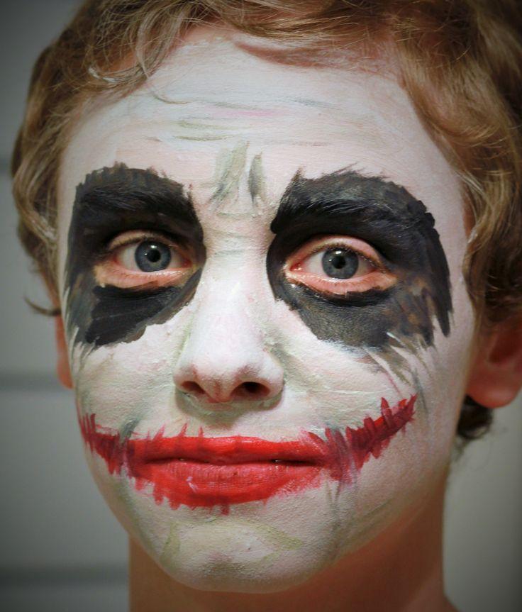 The Joker face painting.