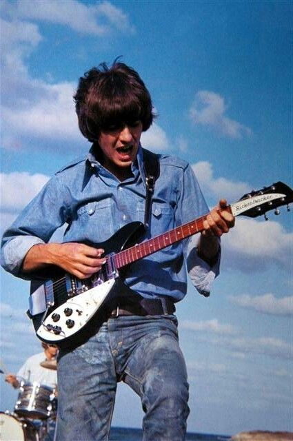 George Harrison during the song Another Girl from Help!