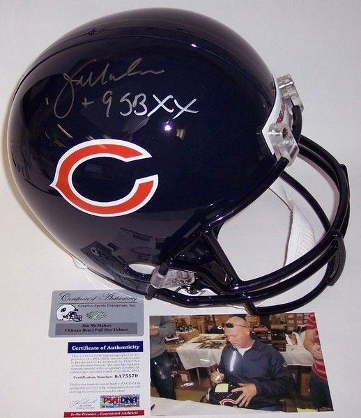 Jim McMahon Autographed Hand Signed Chicago Bears Full Size Helmet - PSA/DNA