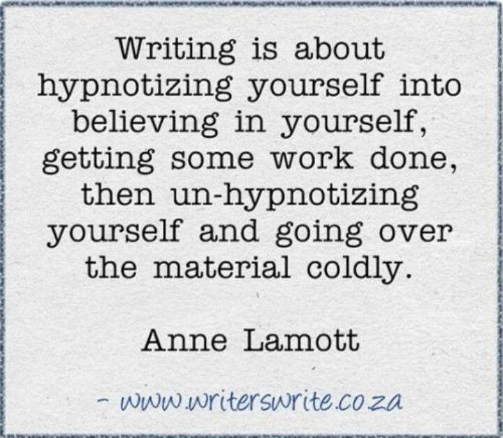 what writing is. true.