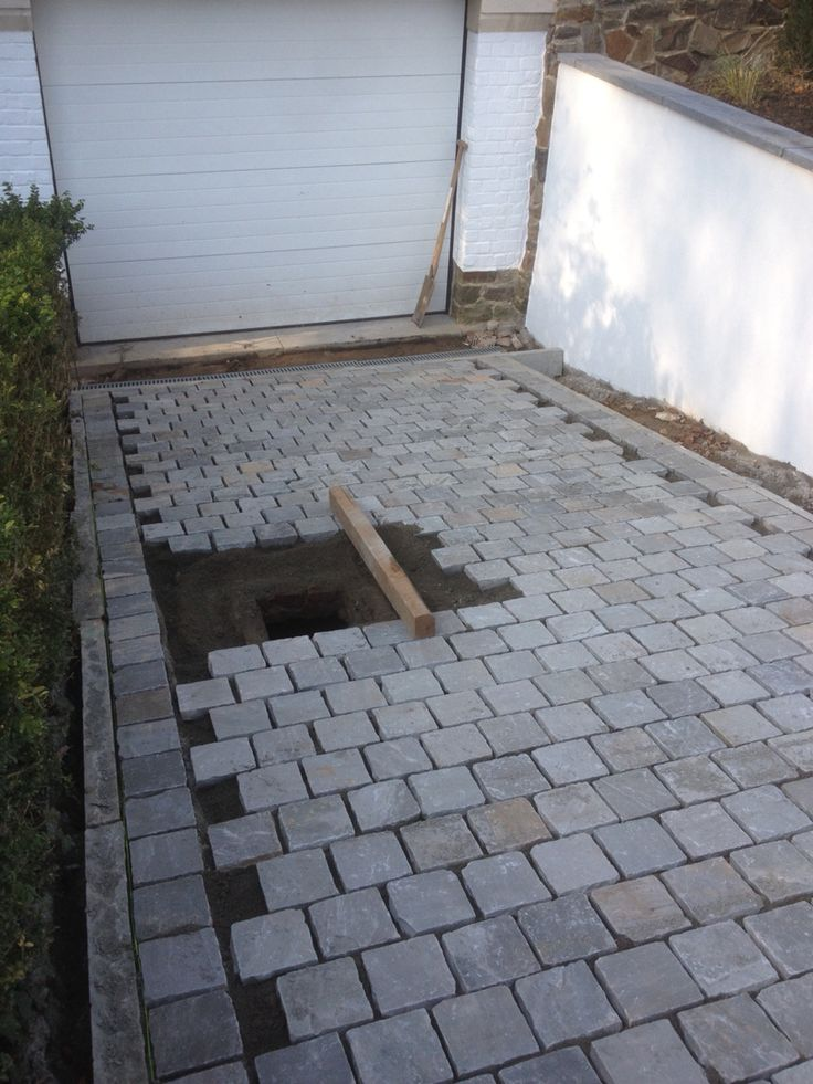 Descente garage kandla 15x15 gris all e de jardin for Amenagement exterieur allee garage