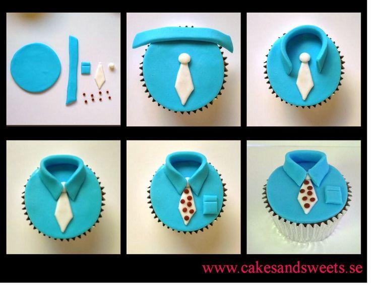 Klart att din pappa ska ha en cupcake på farsdag. Här får du en steg för steg beskrivning på hur du enkelt kan göra fina skjortor på di...