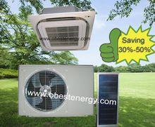 uso en el hogar de cassette de techo solar híbrido de aire acondicionado