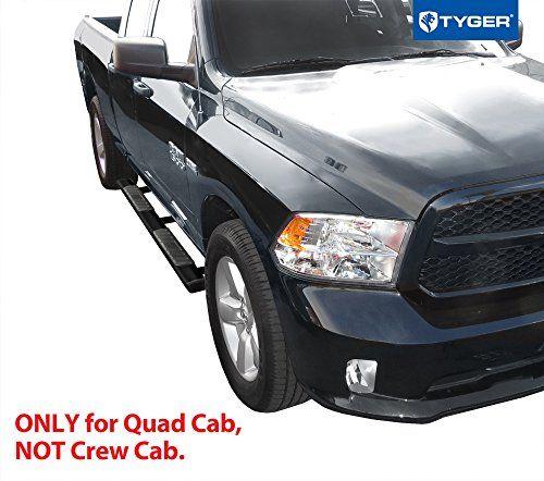 TYGER TG-RS2D40068 RISER For 2009-2017 Dodge Ram 1500 Quad Cab 4inch Black Side Step Nerf Bars Running Boards | 2010 2011 2012 2013 2014 2015 2016