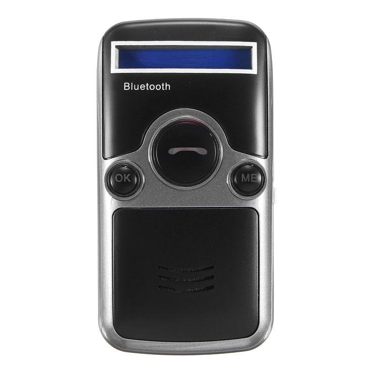 Solar Powered Bluetooth Manos libres Coche Kit Digtal LCD Altavoz para teléfono móvil Dial