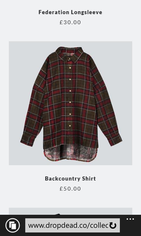 Backcountry shirt #dropdeaduk