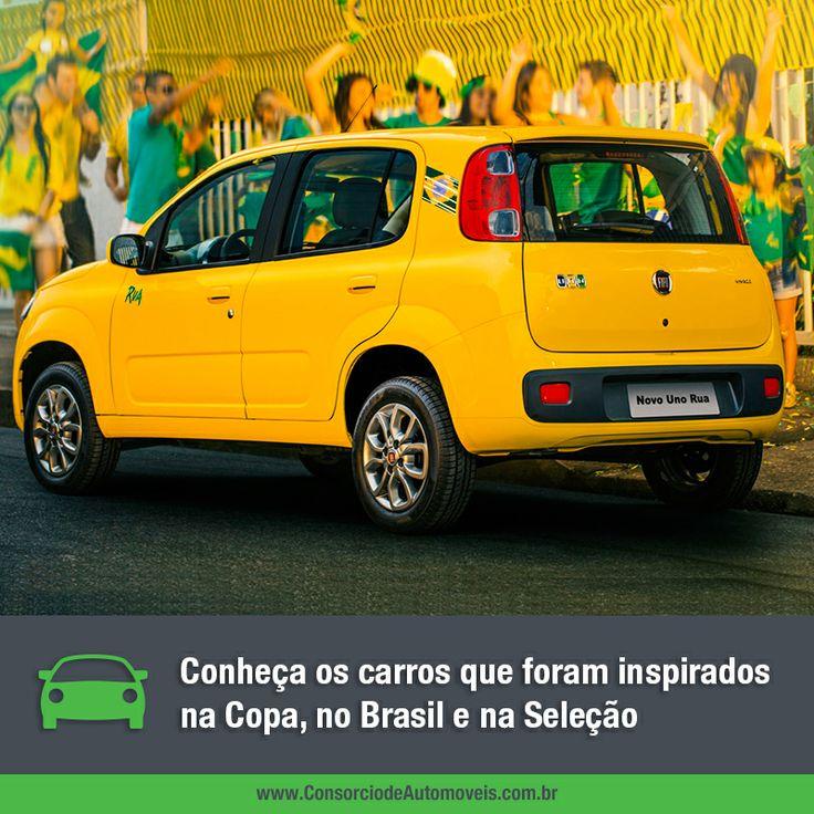 O clima do mundial já invadiu o Brasil e também pode entrar na sua garagem! Acesse nossa matéria e saiba quais os modelos que foram inspirados na maior competição de futebol do mundo: https://www.consorciodeautomoveis.com.br/noticias/carros-que-homenageiam-a-copa-e-a-selecao?idcampanha=206&utm_source=Pinterest&utm_medium=Perfil&utm_campaign=redessociais