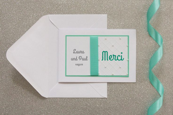 """Merci, Thank you, Gracias... well, this card is just perfect to say THANK YOU to your guest. From our """"Audrey in Love"""" collection   lucyvanbarnes.de   #papeterie #wedding"""