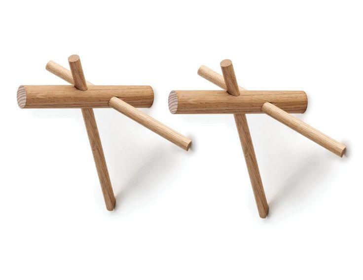 Sticks Hooks Nature (set of 2) by Benoit Deneufbourg Normann Copenhagen