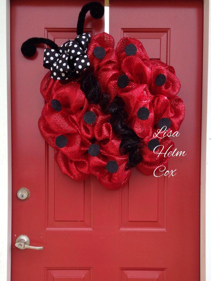 Ladybug Deco Mesh Wreath