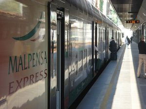 Getting from Milan Malpensa airport to the city of Milan.  Good tips from Why Go Italy.