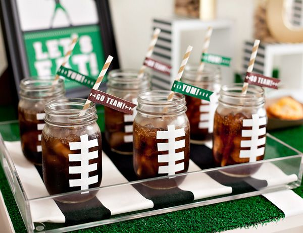 Superbowl Seahawks Football mason jar glasses