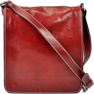 Vespa Italian Leather Crossbody Bag Red
