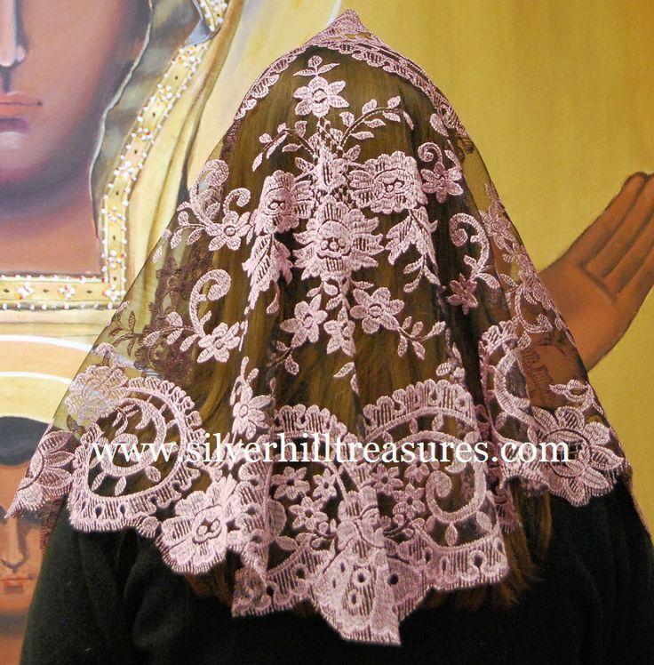 Resultado De Imagen Para Como Hacer Una Mantilla Para Ir A Misa Catholic Chapel Veil Mantilla Chapel Veil Catholic Lace Mantilla