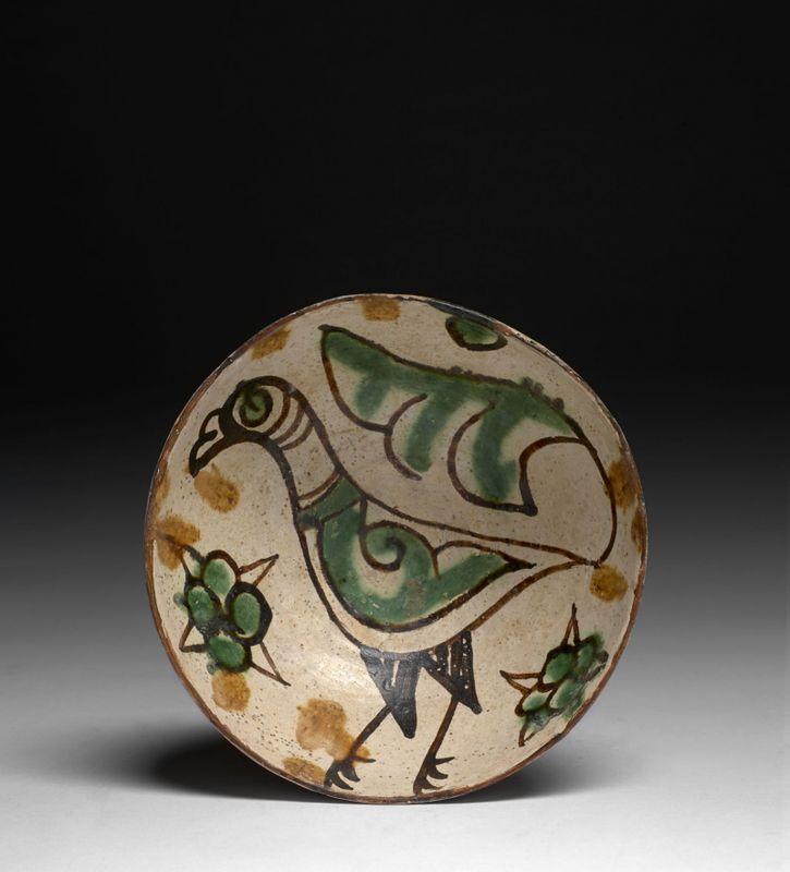 Coupe à l'oiseau, Sari, art samanide, 10e siècle-11e siècle