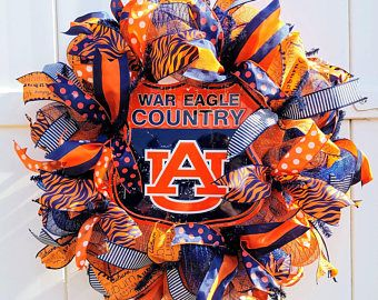 Auburn Wreath, War Eagle Country Wreath, Auburn Tigers Wreath, University of Auburn Wreath, War Eagle Wreath, Auburn Tigers Deco Mesh Wreath