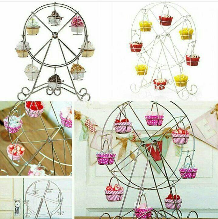 #ferrish #wheel #cupcake stand 32x32x44cm @ 265.000