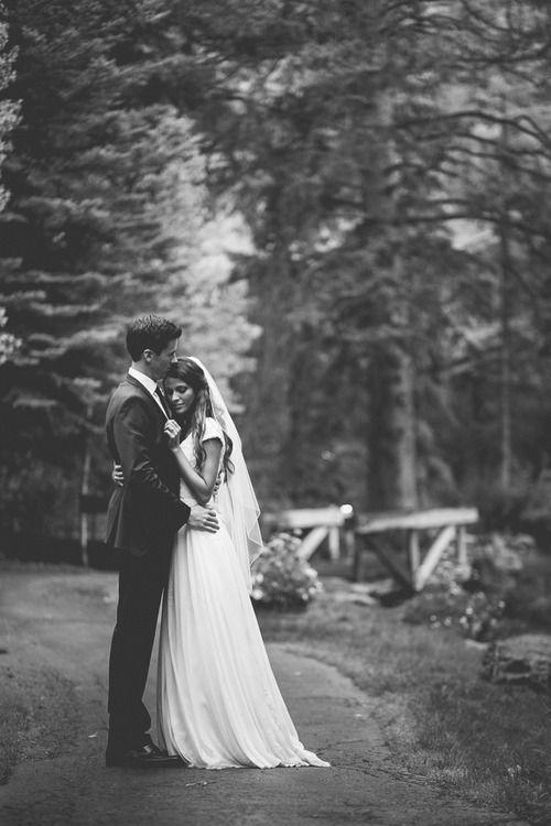 Beautiful! Love this black and white wedding photo.