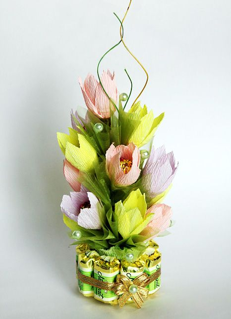 How to make a bouquet of candy. Step-PHOTO, instructions. Bouquets of sweets with their hands. Make bouquets of sweets