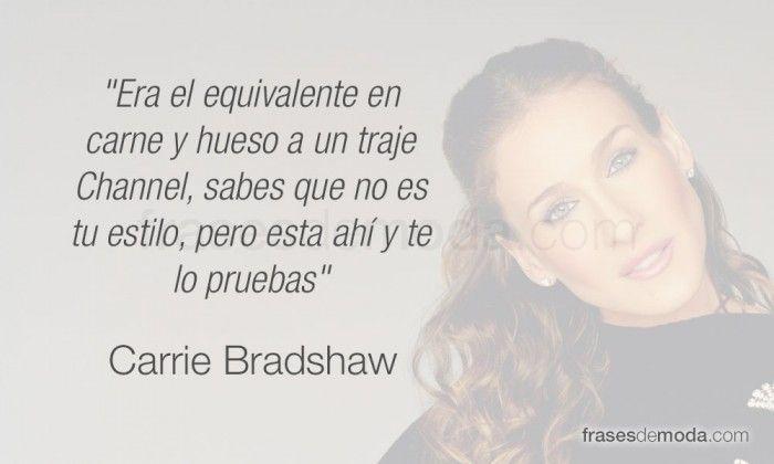 Frase de moda de Carrie Bradshaw