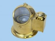 """Brass Binnacle Compass w/ Oil Lamp 7"""" Nautical Decor from Handcrafted Nautical Decor - In stock and ready to ship"""