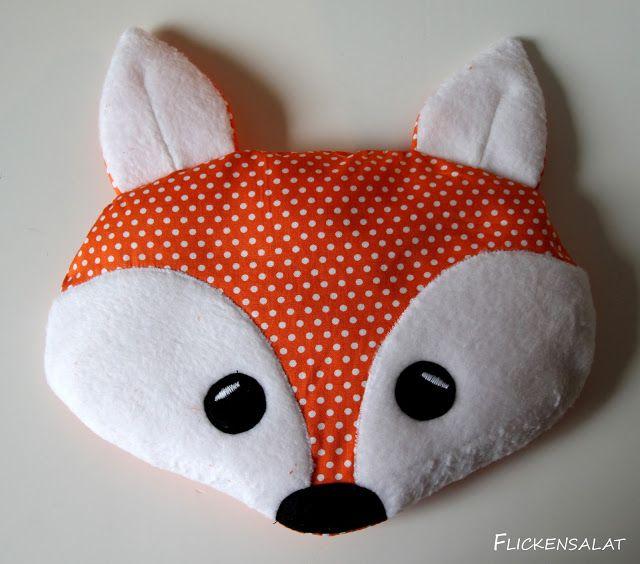 Flickensalat Ein Warmender Fuchs Traubenkernkissen Fuchs Kissen