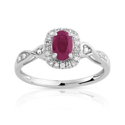 #BAGUE argent 925 rubis et diamant #MATY #Bijoux - www.maty.com