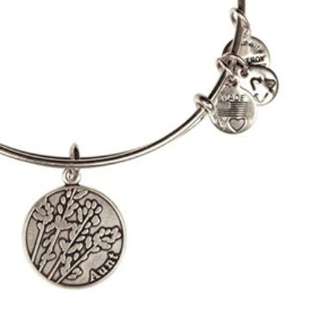 Alex and Ani Aunt Expandable Wire Bangle Russian Silver- Hint, hint, Ethan and Clare!