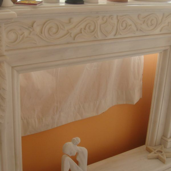 Fireplaces - Dionyssos Marble. Επενδύσεις Τζακιών - Κέντημα. Μάρμαρο Διονύσου.