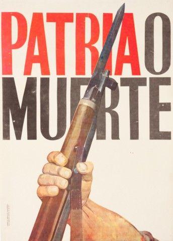 Propagandistický plakát Kubánské revoluce | Aukce obrazů, starožitností | Aukční dům Sýpka