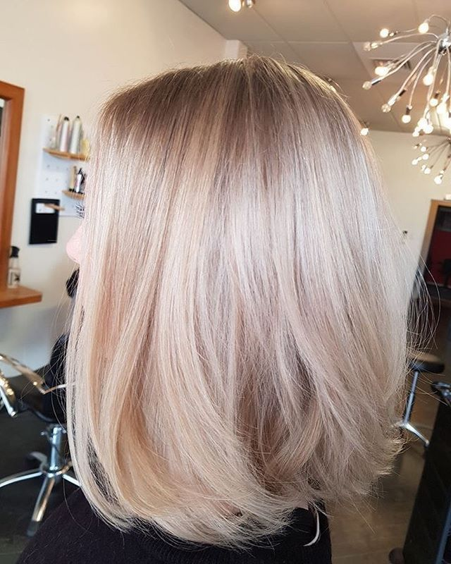42 Trendy Rose Gold Blonde Haarfarbe Ideen – Rose Gold Haar Highlights, Rose Go … – #blond…