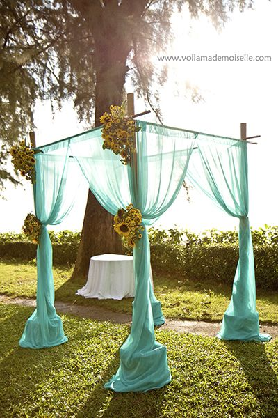 garden wedding, but could also work with a beach wedding