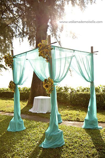 garden wedding, but could also work with a beach wedding