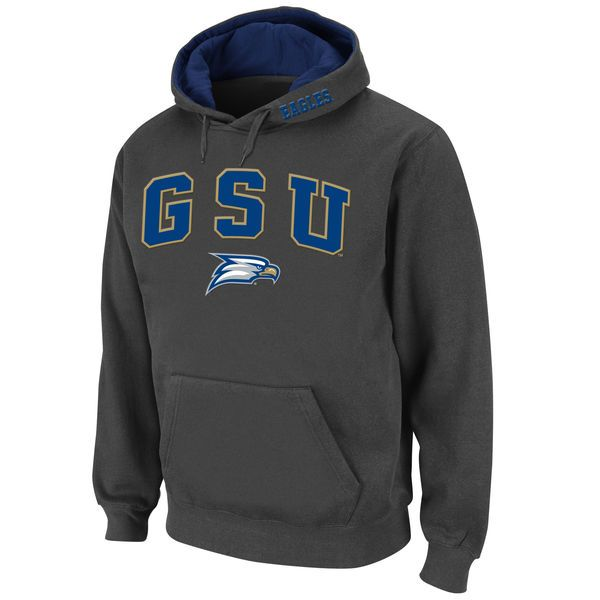 Georgia Southern Eagles Stadium Athletic Arch & Logo Pullover Hoodie - Charcoal - $34.99