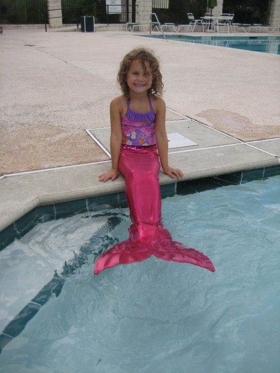 I always wanted to be a mermaid when I was a little girl! #Swimsuit Mermaid Tail with Monofin by @SaltAirTextiles on #Etsy #kids