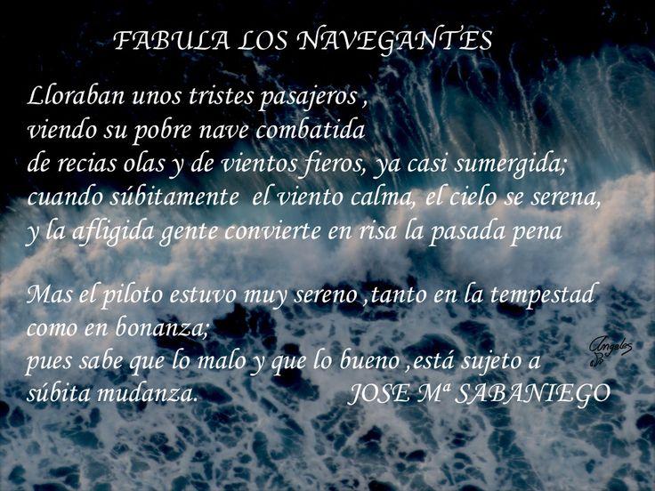 La #fabula de los #navegantes. #JoseMªSabaniego