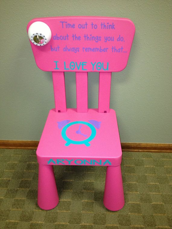 Hey, I found this really awesome Etsy listing at https://www.etsy.com/listing/162726650/personalized-time-out-chair-with-timer