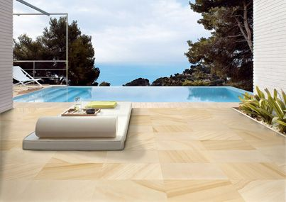 A magnificent sandstone re-creation, Hawkesbury comes in both internal and external surfaces that are ideal for extending the inside to the outside using the same look. The external finish is fantastic for an alfresco area and for use around a pool.