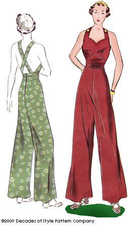 No this would be fab for going dancing in! Vintage pattern (#3008 1930s Sweetheart Overalls)