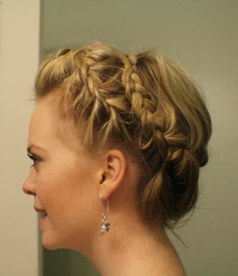 Crown Braid Wedding Hairstyles: 57 Best Images About Updos For Medium Length Hair On