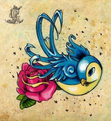 images+of+perfume+bottles+flowers+birds+tattoos | GRIFFE TATTOO: TATTOO NEW SCHOOL