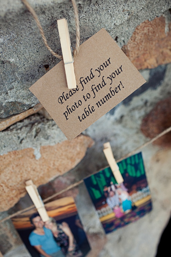 Great escort card idea!
