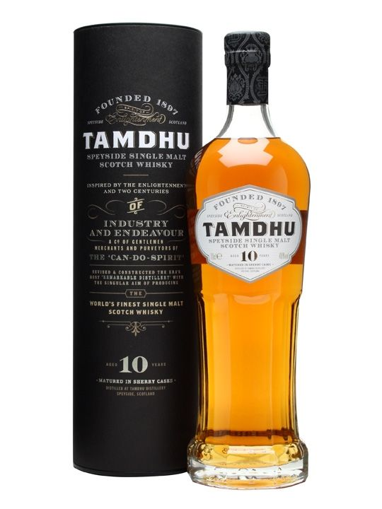 Tamdhu 10 Year Old, Speyside, 3.5/5. A very pleasant dram, strong sherry flavor, caramel and cream, with a dry, spice-filled finish. A nice alternative to Glenfiddich/Glenlivet...
