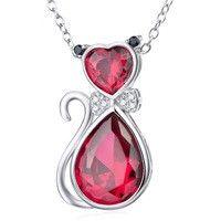Collana+gatto+rosso+di+Le+gemme+di+Hemet+su+DaWanda.com