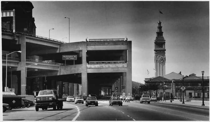"""The Embarcadero Freeway - """"Bullitt,"""" """"Magnum Force,"""" """"A View to a Kill,"""" othersThe Embarcadero Freeway was torn down after the 1989 Loma Prieta earthquake but lives on in many movies, most memorably """"Bullitt"""" and """"The Lineup."""" Photo: Gary Fong, Chronicle Staff"""