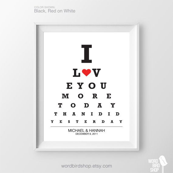 Personalized Gift for Wife Birthday Gift for Girlfriend Anniversary Gift for Her Custom Gift Ideas for Her Husband & Wife I Love You Gifts ORDERING ► Select size ► If applicable, enter color name/number in Notes to seller on checkout ► If print includes personalized text/dates include
