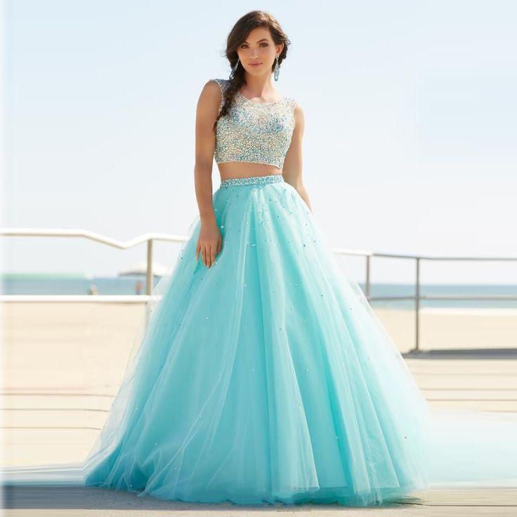 Resultado de imagen para vestidos de 2 piezas largos 2016