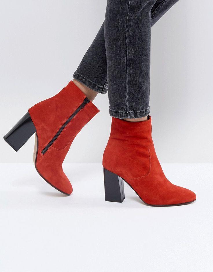 Ankle Boots in Rot für Frauen. Damenmode in Rot bei
