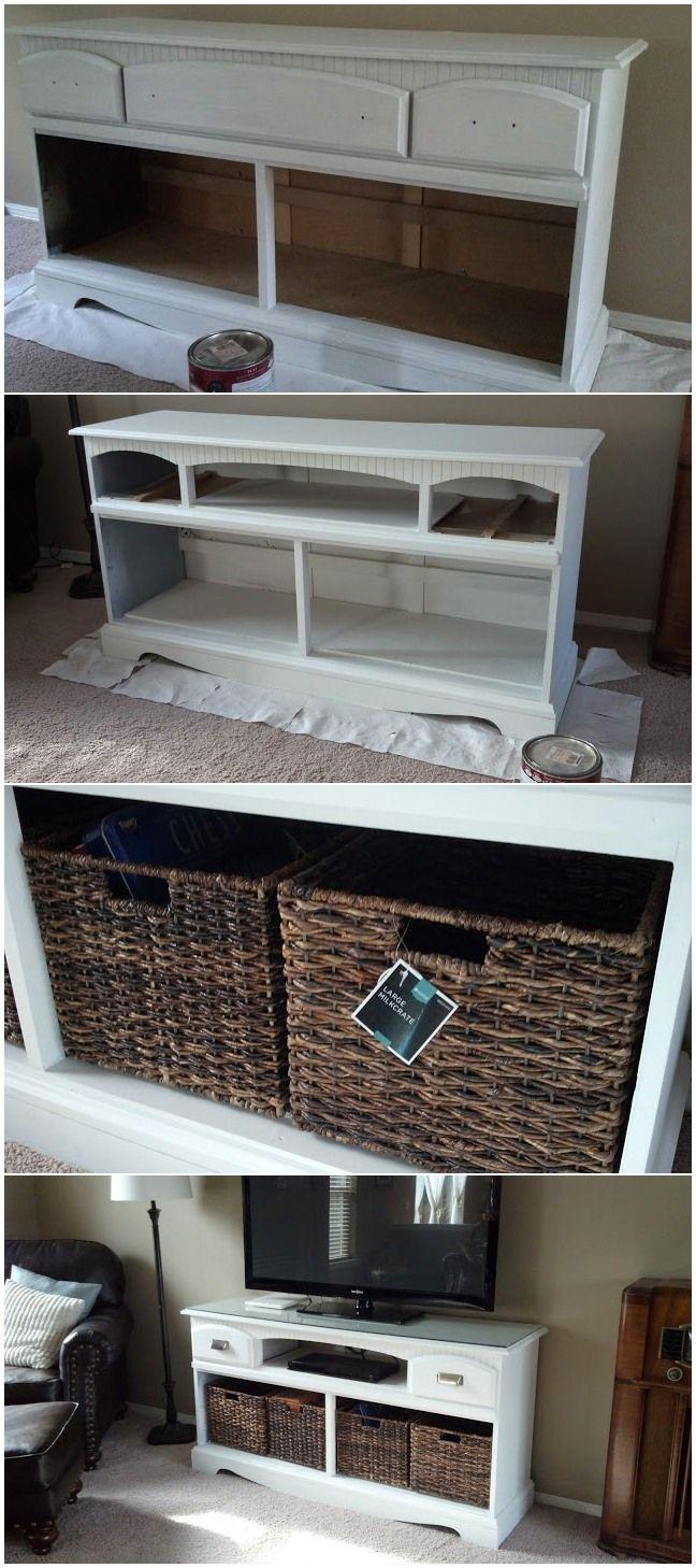 Dresser turned TV stand makeover                                                                                                                                                                                 More